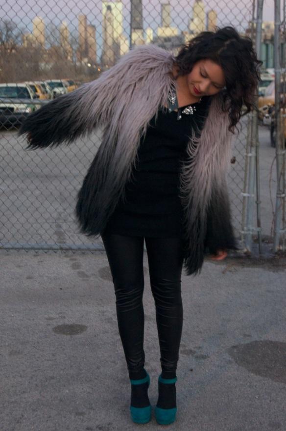 Ombre Fur Jacket